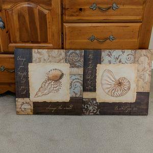 Canvas Seashell Wall hanging